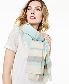 Striped Oversized Cashmere Scarf, Created For Macy's
