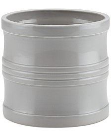 "Circulon Ceramics 7.5"" Tool Crock with Partition Insert, Light Gray"