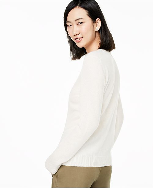 Crew Neck Cashmere Sweater, Created for Macy's
