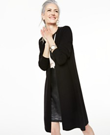 Charter Club Pure Cashmere Duster Cardigan, Regular & Petite Sizes, Created for Macy's