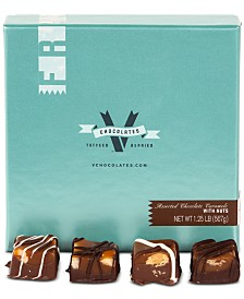 V Chocolates 32-Pc. Assorted Milk and Dark Chocolate Nut Sea-Salt Caramels