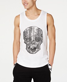 I.N.C. Men's Rhinestone Skull Tank, Created for Macy's