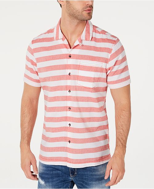 INC International Concepts INC Men's Striped Camp Shirt, Created for Macy's