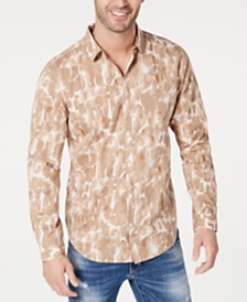 I.N.C. International Concepts Men's Watercolor Animal Print Shirt