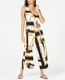 Thalia Sodi Printed Surplice Jumpsuit, Created for Macy's