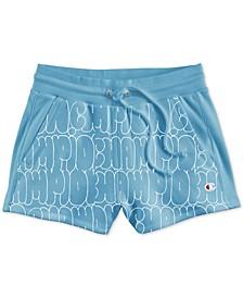 Reverse-Weave High-Waist Shorts