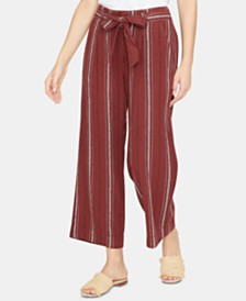 Sanctuary Inland Striped Wide-Leg Capri Pants