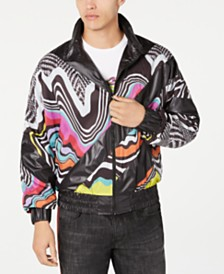 Just Cavalli Men's Psychedelic Graphic Jacket