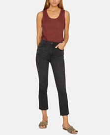 Sanctuary Modern High-Rise Raw-Hem Capri Jeans