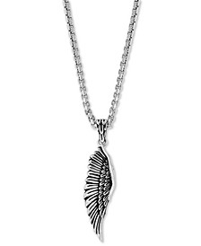 "EFFY® Men's Wing 22"" Pendant Necklace in Sterling Silver"