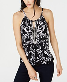 I.N.C. Petite Embellished Halter Top, Created for Macy's