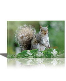 Eurographics Eastern Gray Squirrel Framed Canvas Wall Art
