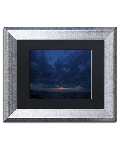 """Trademark Global Kurt Shaffer 'Contemplative Sunset' Matted Framed Art - 11"""" x 14"""""""
