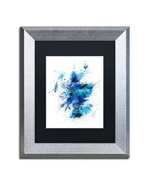 "Trademark Global Michael Tompsett 'Scotland Paint Splashes Map II' Matted Framed Art - 11"" x 14"""