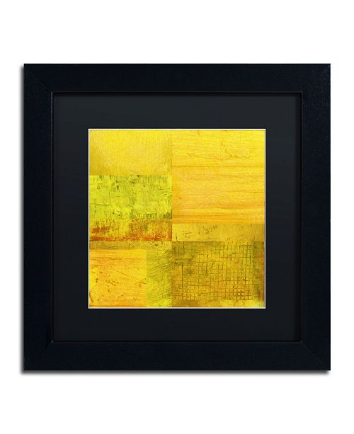 "Trademark Global Michelle Calkins 'Essence of Yellow' Matted Framed Art - 11"" x 11"""