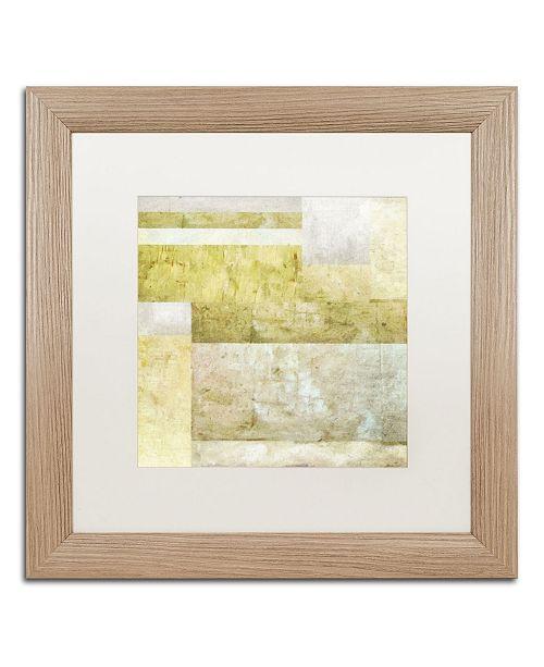 "Trademark Global Michelle Calkins 'Neutral Study 2.0' Matted Framed Art - 16"" x 16"""