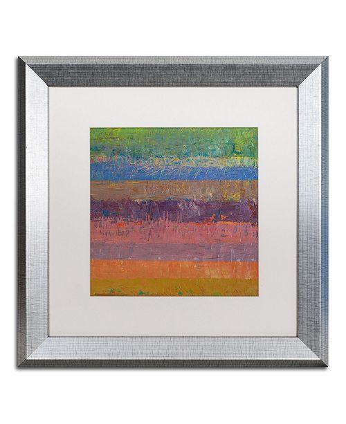 "Trademark Global Michelle Calkins 'Pink Line' Matted Framed Art - 16"" x 16"""