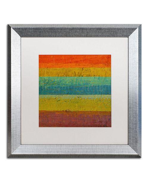 "Trademark Global Michelle Calkins 'Red Line' Matted Framed Art - 16"" x 16"""