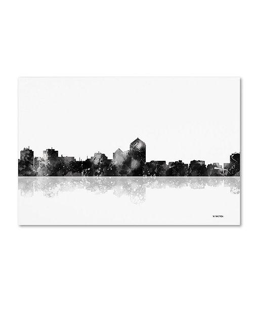 "Trademark Global Marlene Watson 'Albuquerque New Mexico Skyline BG-1' Canvas Art - 12"" x 19"""