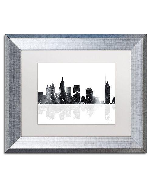 "Trademark Global Marlene Watson 'Atlanta Georgia Skyline BG-1' Matted Framed Art - 11"" x 14"""