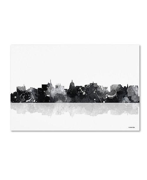 "Trademark Global Marlene Watson 'Madison Wisconsin Skyline BG-1' Canvas Art - 12"" x 19"""