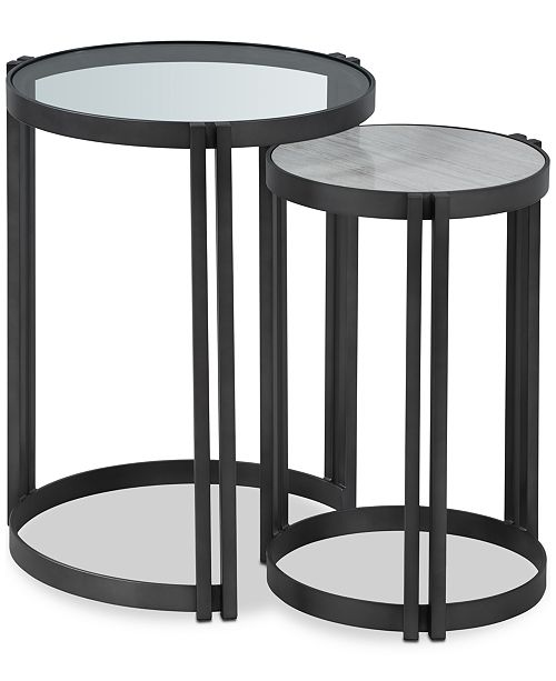 Furniture Elisabeta Nesting Side Tables (Set of 2), Created for Macy's