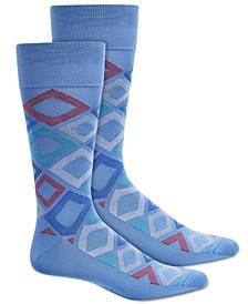 Men's Microfiber Diamond-Print Socks