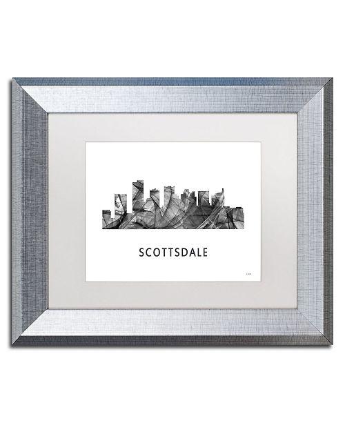 "Trademark Global Marlene Watson 'Scottsdale Arizona Skyline WB-BW' Matted Framed Art - 11"" x 14"""