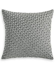 "CLOSEOUT! Locked Geo 18"" x 18"" Decorative Pillow, Created for Macy's"