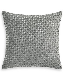 """Hotel Collection Locked Geo 18"""" x 18"""" Decorative Pillow, Created for Macy's"""