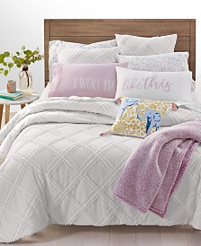Whim by Martha Stewart Collection Chenille Trellis 3-Pc. Full/Queen Comforter Set, Created for Macy's