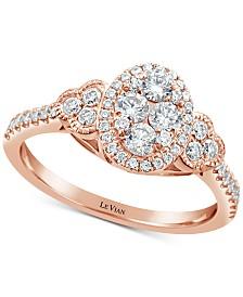 Le Vian® Vanilla Diamonds® Statement Ring (3/4 ct. t.w.) in 14k Rose Gold