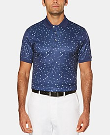 Men's Big & Tall Flag-Print Golf Polo