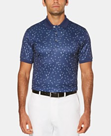 PGA TOUR Men's Big & Tall Flag-Print Golf Polo