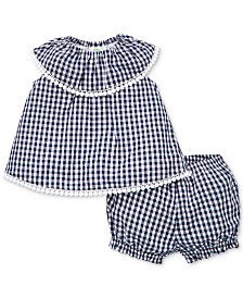 Little Me Baby Girls 2-Pc. Cotton Top & Shorts Set