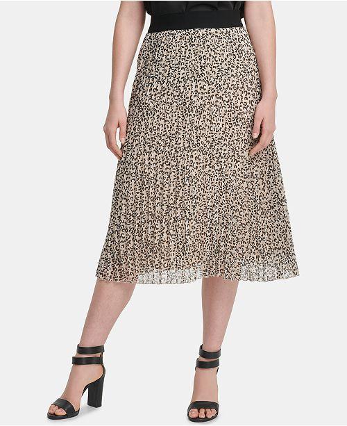 DKNY Midi Pleated Skirt