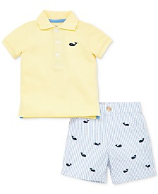 Little Me Baby Boys 2-Pc. Cotton Polo Shirt & Shorts Set