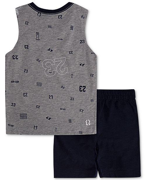 400493036e2 Jordan Little Boys 2-Pc. Cotton Printed Sleeveless T-Shirt & Shorts Set ...