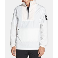 Deals on DKNY Mens Logo-Print 1/4-Zip Jacket