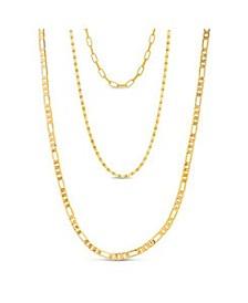 Women's Cable Gold-Tone Chain 3pc Necklace Set