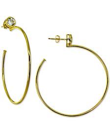 Cubic Zirconia Hoop Earrings in Sterling Silver, Created for Macy's