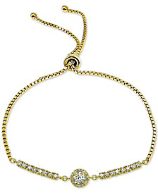 Cubic Zirconia Bolo Bracelet, Created for Macy's