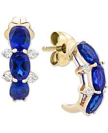 Sapphire (1-1/2 ct. t.w.) & Diamond Accent Drop Earrings in 14k Gold