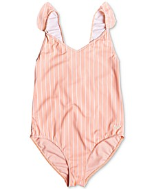 Big Girls Striped One-Piece Swimsuit