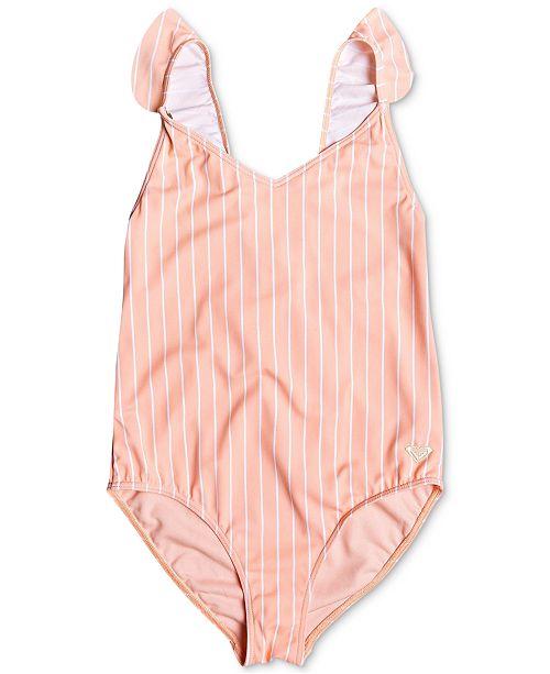 Roxy Big Girls Striped One-Piece Swimsuit
