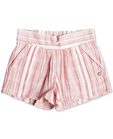 Roxy Little & Big Girls Striped Cotton Shorts