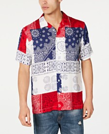 American Rag Men's Patchwork Bandanna Shirt, Created for Macy's