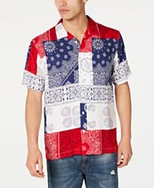 American Rag Men's Patchwork Bandanna Shirt, Created for Macy's
