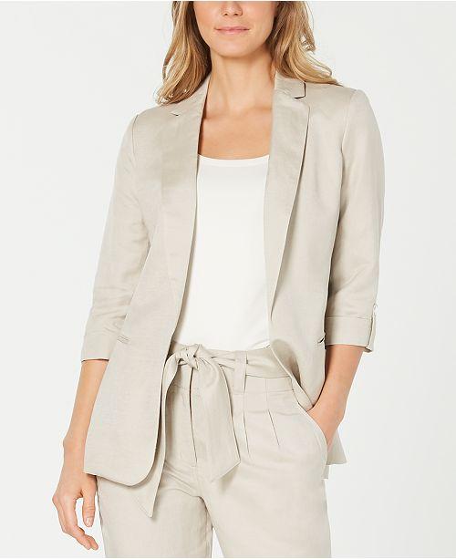Calvin Klein Open-Front Utility Jacket