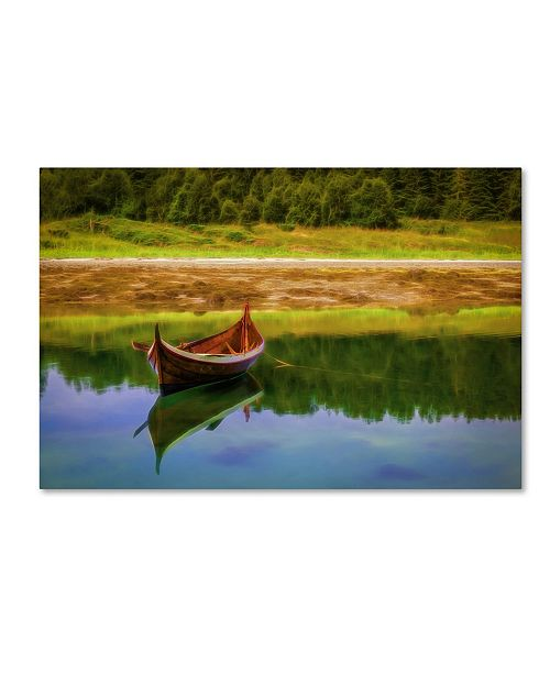 "Trademark Global Erik Brede 'Nordland Boat' Canvas Art - 12"" x 19"""
